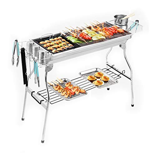 Best Review Of Barbecue Stainless Steel Grill Charcoal Grill Outdoor Grill for More Than 5 People Fu...