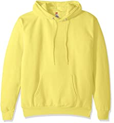 Cozy 7.8-ounce fleece made with up to 5 percent polyester created from recycled plastic Pill-resistant fabric with high-stitch density for durability Cozy hood with dyed-to-match adjustable draw cord Ribbed waistband and cuffs, split kangaroo pocket
