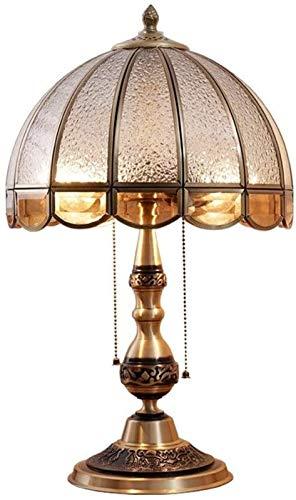 Cobre Clásica tallada dormitorio lámpara de mesa de noche lámpara de mesa de cristal pantalla de cristal lámpara de escritorio de Estudio Sala de estar decoración del hotel lámpara de escritorio