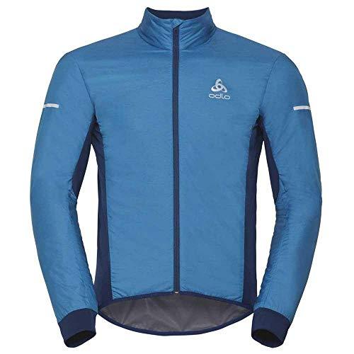 Odlo 411522 Blouson de cyclisme Homme Blue jewel - Poseidon FR : M (Taille Fabricant : M)