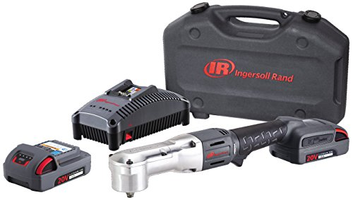 Ingersoll Rand W5330 20V 3/8' Cordless Right Angle Tool, Kit with tool/charger/case/2 batteries