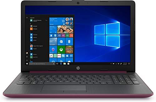 """HP 15-da0228ns- Ordenador portátil de 15.6\"""" HD (Intel Core i3-7020U, 8 GB de RAM, 1TB HDD, Intel UHD Graphics, Windows 10) Malva - teclado QWERTY Español"""