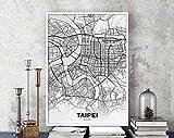 MG global Taipei Taiwan Map Poster Hometown City Print