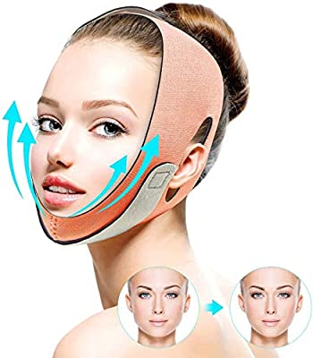 Face Slimming Strap, Facial Weight Lose Slimmer Device FERNIDA Painless V-Line Chin Cheek Lift Up Band Anti Wrinkle Eliminates Sagging Anti Aging Breathable Face Shaper Double Chin Lifting Belt