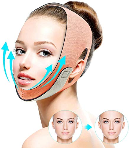 FERNIDA Face Slimming Strap, Facial Weight Lose Slimmer Device Double Chin Lifting Belt, Pain Free V-Line Chin Cheek Lift Up Band Anti Wrinkle Eliminates Sagging Anti Aging Breathable Face Shaper Band