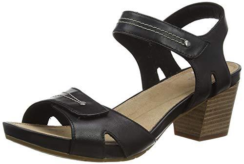 Clarks Un Palma Vibe, Sandalias de Talón Abierto Mujer, Negro (Black Leather Black Leather), 42 EU