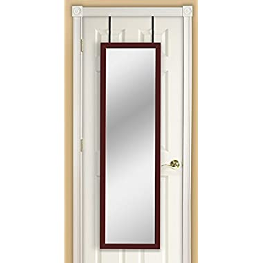 Mirrotek DM1448CH Over The Door Mirror, Cherry