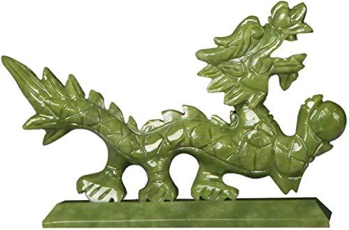 Figuras Estatuas y Figuras de Dragones Jade Natural, Escultura de Feng Shui Adorno Decoración de Oficina en casa Decoración de Mesa Good Lucky Gifts, B, Color: B (Color: B)