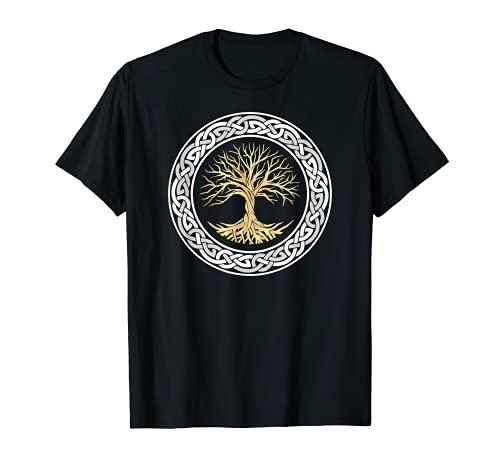 Tree of Life Viking Celtic Tree of Life Nordic Design T-Shirt