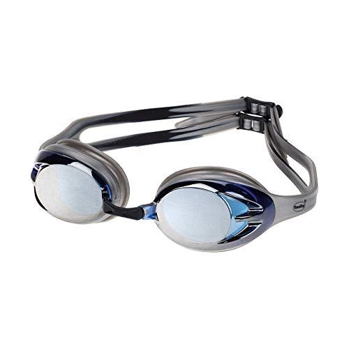Fashy Power Mirror Schwimmbrille, Silber/Silber Verspiegelt, L