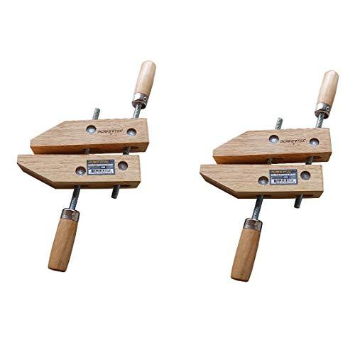 POWERTEC 71524 Wooden Handscrew Clamp – 10 Inch | Hand Screw Clamps for Woodworking, 2PK