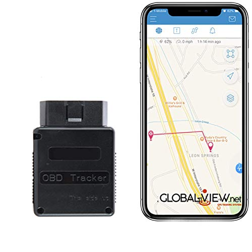 Global-View.Net Car GPS Tracker - OBD GPS Vehicle Tracking Device and GPS Car Tracking Device - Car GPS Tracker - Vehicle Tracker