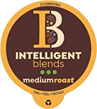 Intelligent Blends Medium Roast Coffee Pods – 88ct. Recyclable Single Serve Coffee Pods -Richly satisfying arabica beans California Roasted, k-cup compatible including 2.0