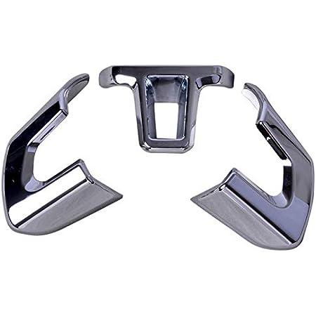 Beler 3pcs Silber Chrom Lenkrad Trimm Set Kit Innendekoration Auto