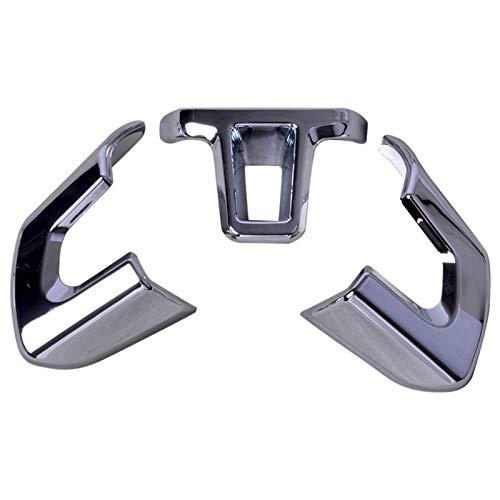 beler 3pcs Silber Chrom Lenkrad Trimm Set Kit Innendekoration