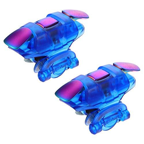 ibasenice El Juego Móvil Dispara El Teléfono Dispara El Controlador de Juegos del Teléfono Compatible con Pubg Mobile para Niños Adultos (Azul)