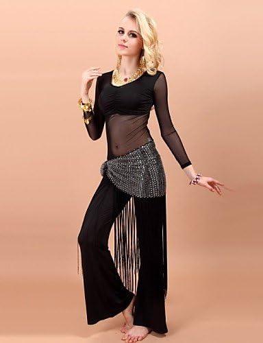 Tanz-Outfit wudaofu Danse du Ventre de austattungen (Noir Pourpre Bleu Roi, Viscose élasthanne, Danse du Ventre) fürfemmes Ceinture Pantalons Haut