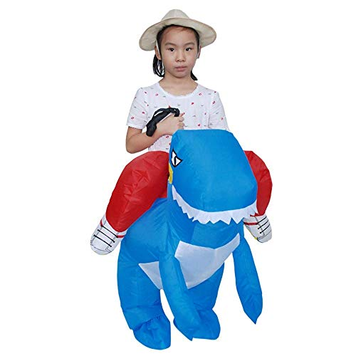 ZRABCD Educational Toys, Boy Toys, Girl Toys, Car Toys, Car Models,Party Jumpsuit Costumes Inflatable Carnival Funny Clothes Dinosaur T-Rex Cosplay for Children Height 120-150Cm,Blue