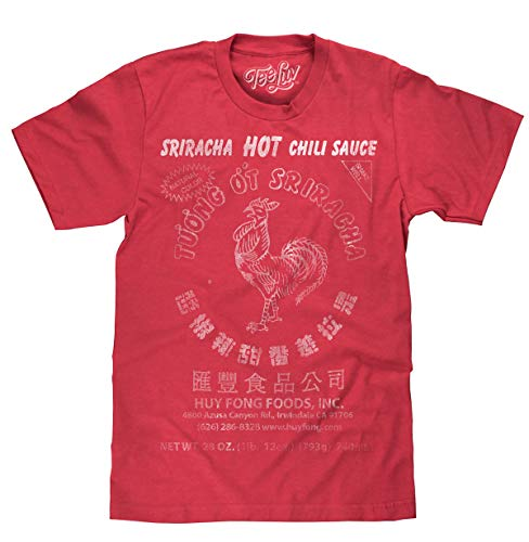 Sriracha Hot Chili Sauce Logo Red  Soft Touch Tee-x-large Red Heather