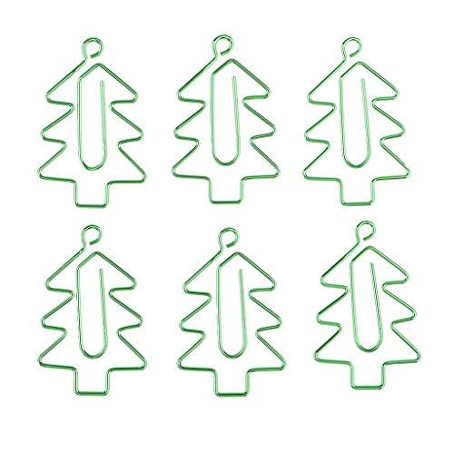 Harilla Clips de Papel de Metal con Forma de árboles de Navidad 6x
