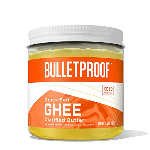 Grass Fed Ghee, 13.5 Oz, Bulletproof 100% Grass Fed, Pasture Raised Clarified Butter Fat, Keto, Paleo, Lactose Free, Casein Free, Non-GMO