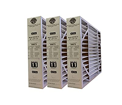 "Lennox Healthy Climate X6673 20x25x5 MERV 11 Filter-Actual Size 20-3/4"" x 24-3/4"" x 4-3/8"" - 3 Pack"