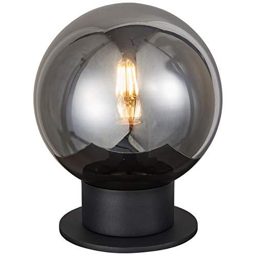 BRILLIANT lamp Astro tafellamp 20cm zwart/rookglas |1x A60, E27, 60W, geschikt voor standaardlampen (niet inbegrepen) |Schaal A ++ tot E |Met snoerschakelaar