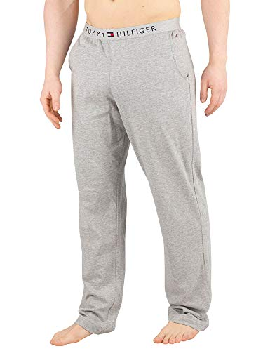 Tommy Hilfiger Herren Logo-Pyjama-Unterteile, Grau, S
