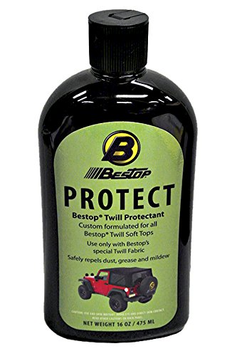 Bestop 1121700 16-oz. Black & Color Twill Fabric Protectant
