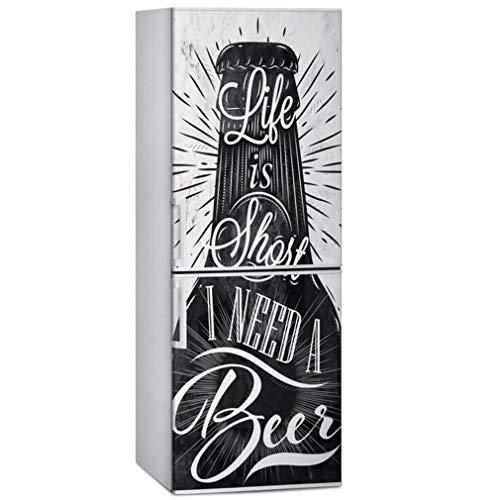 JY ART Adesivi per Porta Frigorifero Decorazione Bottiglia di Birra Fai da Te Adesivi per Cucina Adesivi Frigorifero 3D Adesivi murali, 60 * 180cm