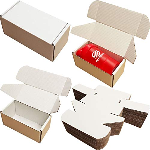 8x4x4' White Shipping Boxes Cardboard Postal MAILING Gift Packet Small Parcel (5)