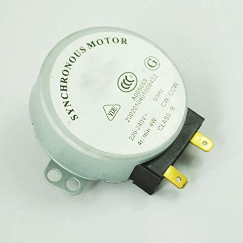 PRINDIY 4W AC 220-240V 4RPM CW/CCW Motor síncrono Microondas Horno Placa giratoria Motor síncrono