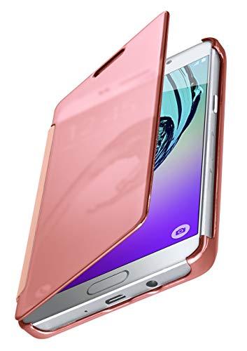 MoEx® Funda Protectora Fina Compatible con Samsung Galaxy A5 (2016) | Cristal Tintado Transparente, Rose doré
