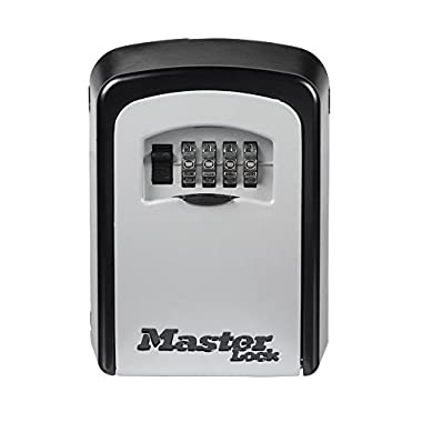 Master Lock Lock Box, Set Your Own Combination Wall Mount Key Safe, 3-1/4 in. Wide, 5401D