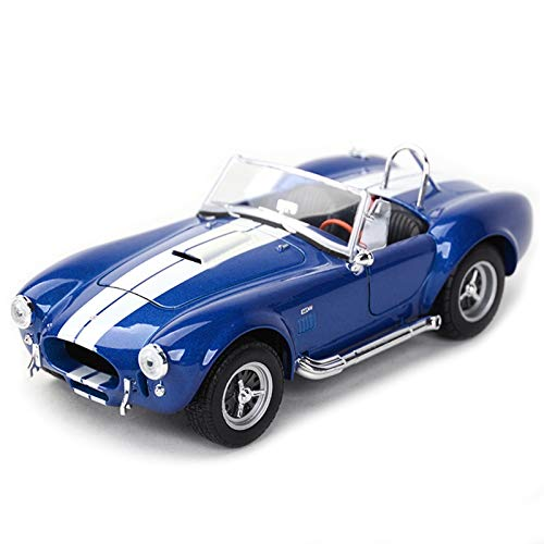 1:24 para 1965 Shelby Cobra 427 Coche Clásico Estático Vehículos De Fundición Modelo Coleccionable Juguetes (Color : Blue, Size : No Box)
