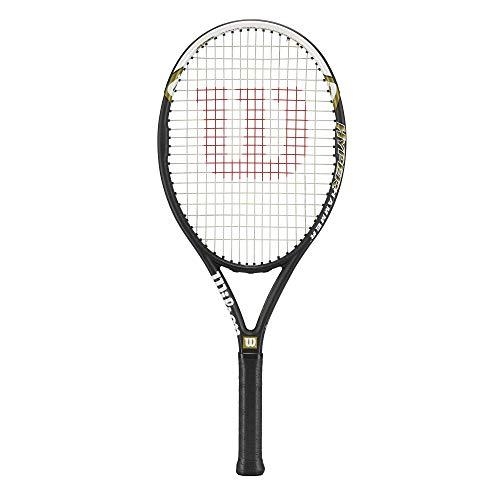 Wilson Raqueta de tenis, Hyper Hammer 5.3, Principiantes y jugadores intermedios, Negro/Blanco/Verde, Tamaño de empuñadura L4