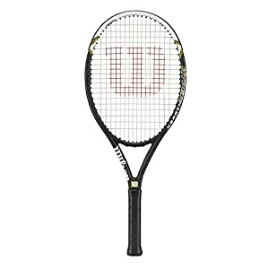 Wilson Hyper Hammer 5.3 Strung Tennis Racket (Black/White, 4 1/4)