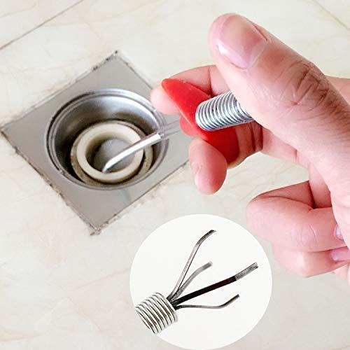 Productos domésticos MMGZ Prensa de la Mano Tipo de Draga de Cangilones Dispositivo de Drenaje alcantarilla de la Pipa Limpio Hook, Longitud: 85cm
