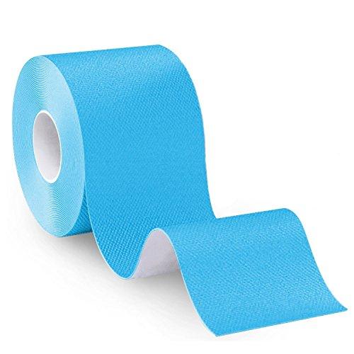 VI. yo Kinesiologie Tape Muskel Unterstützung Tape elastische für Sport Plantarfasziitis Knöchel tibiakantensyndrom Knie Ellenbogen Handgelenk Rücken Schulter Hals, 5cm * 5 m, blau