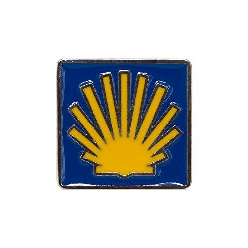 Finoly Pin Camino de Santiago para Ropa Varios Diseños Xacobeo Jacobeo (Pin Concha Camino Santiago)