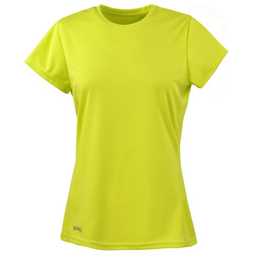 Spiro Womens/Ladies Sports Quick-Dry Short Sleeve Performance T-Shirt (M) (Black)