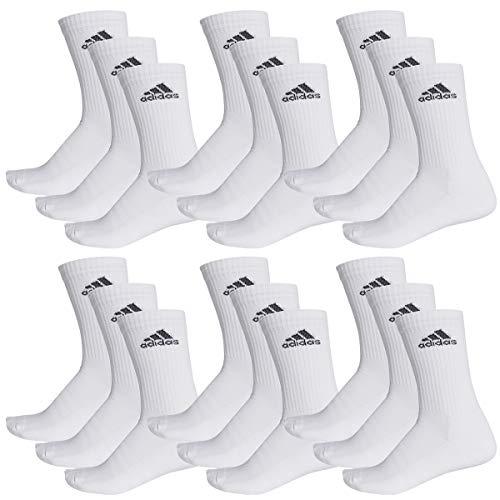adidas 18 Paar Performance CUSHIONED CREW 3p Tennissocken Sportspocken Unisex, Farbe:White, Socken und Strümpfe:40-42