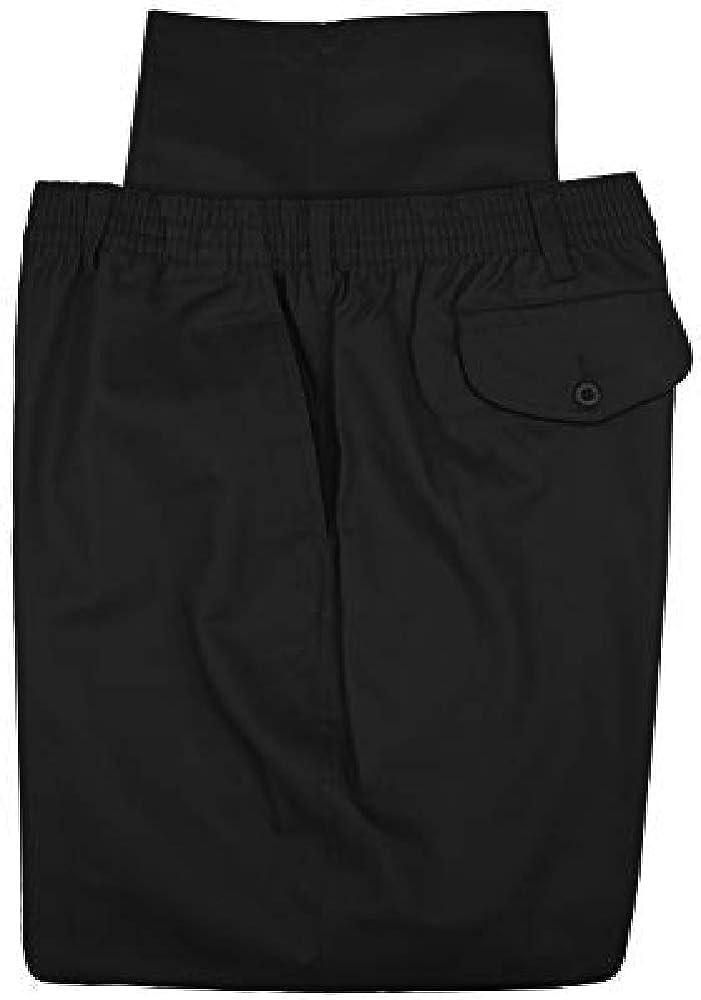 Falcon Bay Big & Tall Fully Elastic Waist Casual Pant - Black (64W x 28L)