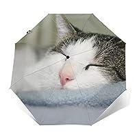 折りたたみ傘 猫柄 ネコの日傘 遮光 紫外線遮蔽率99% 超耐風撥水 梅雨対策 携帯しやすい晴雨兼用