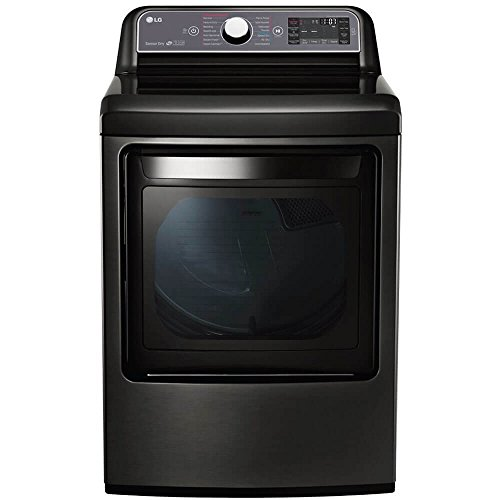 """LG DLEX7600KE 27"""" Electric Dryer with 7.3 cu. ft. Capacity, in Black Stainless Steel"""