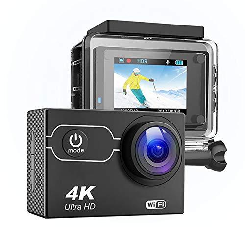 Cámara de acción Deportiva 4k / 60fps, videocámara Vlog subacuática Impermeable con Gran Angular de 170 ° y grabación a intervalos