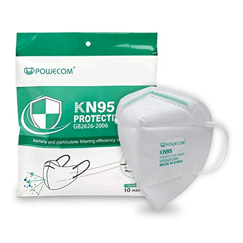 Powecom KN95 Face Mask, Disposable Masks(Non Medical), 10 Pack