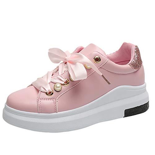 Zapatillas de deporte Chunky para mujer - Malbaba Athletic Sports zapatos para caminar con plataforma de encaje hasta la cinta Zapatillas de deporte - Ropa deportiva