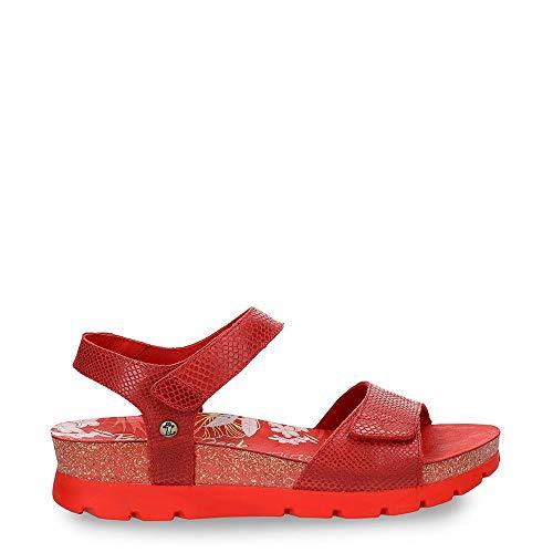 Panama Jack Scarlett Amazonic - Sandalias con cuña para mujer, color Rojo, talla 39 EU