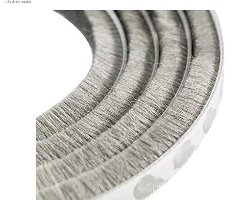 5 m Selbstklebend Dichtungsband,Yueser 2 Stück Winddicht Staubdicht Türdichtungen Dichtungsbürste für Schiebetüren Fenster und Garderobe 9 x 15 mm